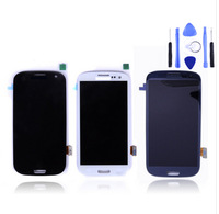 New LCD For Samsung Galaxy SIII s3 i9300 big LCD With touch screen Digitizer blue or white 1 pcs/lot