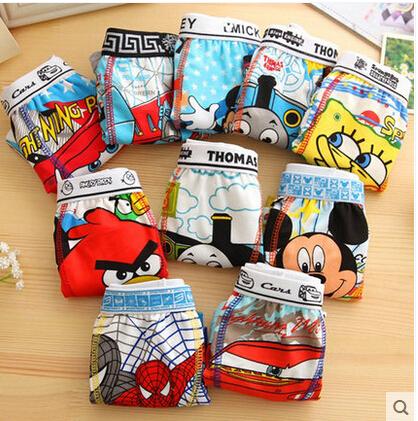 Free shipping 6pcs/lot calcinha cartoon printing children's underwear Cotton baby clothing(China (Mainland))