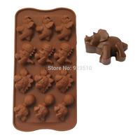 Bakeware  food grade silicone DIY fondant mold Dinosaur-shaped chocolate cake tools!