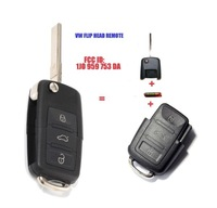 1J0 959 753 DA FLIP HEAD KEY REMOTE TRANSMITTER FOR 2002-2005 VOLKSWAGEN PASSAT Free Shipping