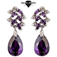 Joyme hot sale muilt color Hyperbolic Dangle Earrings fashion top Quality CZ earring for women 2014 wedding jewelry