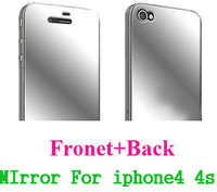 Free shipping!5PCS front+back New CLEAR LCD Front And Back Mirror Screen Protector Guard Cover Film For Iphone4/4s