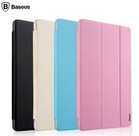 For Xiaomi MiPad Mi Pad Baseus Simplism Three Fold Series Sleep Wake Up Smart Cover Flip Protective Leather Case Free Shipping