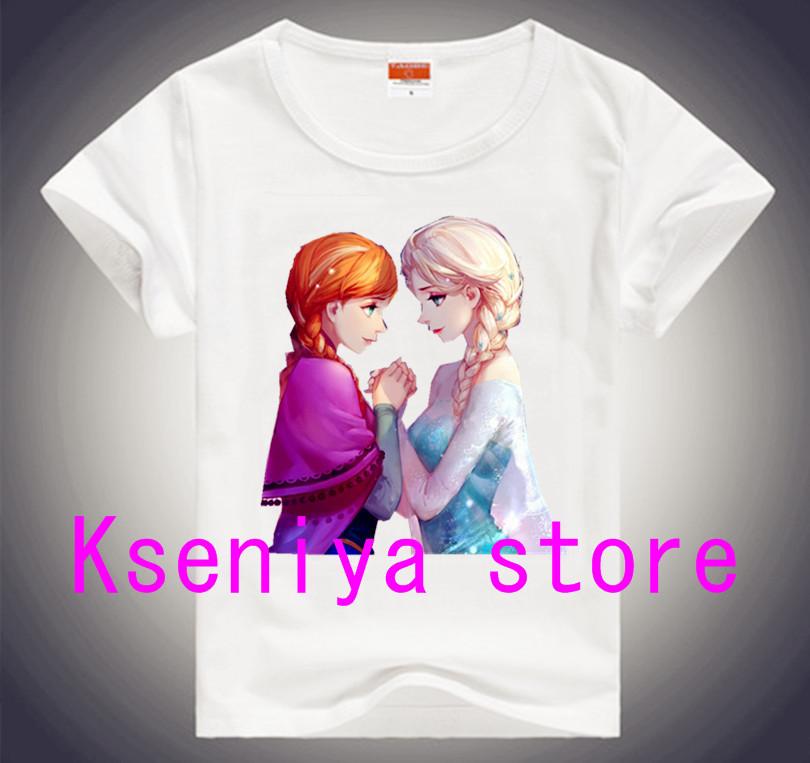 Discount 2014 summer children t shirts frozen princess clothes girl t shirt frozen costume kids t shirt frozen clothing 2-12Age(China (Mainland))