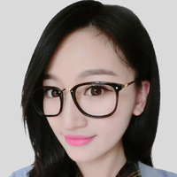 4S708 2014 Square Frame Metal Optical Frame Large Size Glasses Frame Clear Lens Mix Colors 1pc/lot DROP SHIPMENT