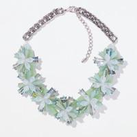 2014  new fashion design green color collar bib pendants necklace statement jewelry for women