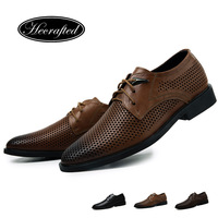 Handmade Genuine leather Men dress shoes, autumn oxford shoes for men,top quality original HECRAFTED brand men Casual oxfords
