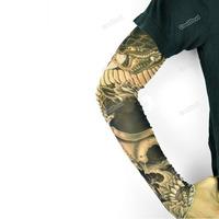 Funny cooldeal 1PCS 2PCS 3PCS Men Fake Body Temporary Tattoo Sleeves Arm Leg Stocking Hot Fashion style
