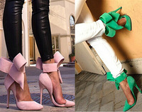 2014 Free Shipping brand women casual pumps sexy bowtie high heels women summer ankle boots fashion butterfly women sandal