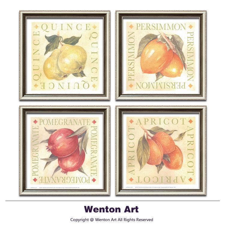 Kitchen Wall Decor Vegetables : Panels printed vintage vegetable fruit canvas painting