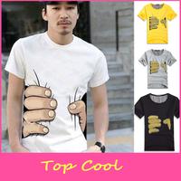 LA89 2014 new big Hand t shirt! Man men clothes Printing Hot 3D visual creative personality spoof grab cotton special show