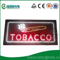 Hidly brand wholesale 17*31inch led TOBACOO sign /High brightness led acrylic sign /smoke shop usage led advertising panel