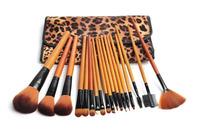 2014 Latest 18 pcs Professional Makeup Brush ,Makeup Brushes Set  Kit &Tool With Leopard Print Luxurious Bag