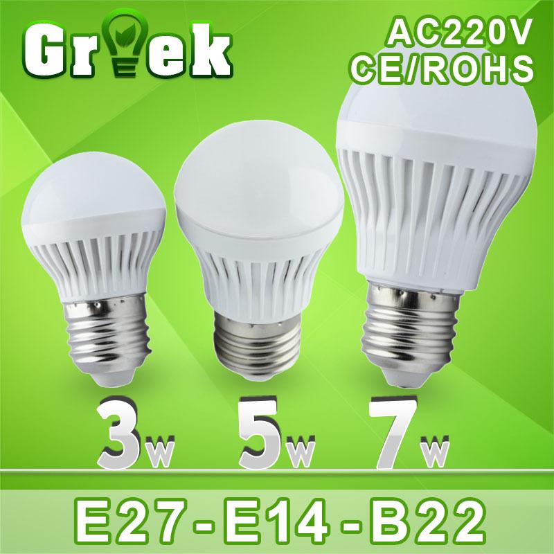 Lampe led 5pcs/lot e27 b22 110v 220v 3w 5w 7w 9w 12w 15w 25w 30w 50w ampoule led la lumière à 360 degree chaud cold white led spotlight