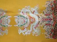 fabrics textile, Chinese silk tapestry satin, Dragon pattern ,Tibet high-end Tibetan silk X9