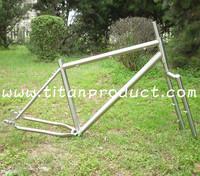 Gr.9 Titanium Fatbike Frame 135mm Rear Spacing Rack Mounts Fender Mounts