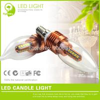 4 pcs/lot 3W LED Pagoda Candle Bulbs Non-Dimmable 220V E14 LED Candle Light SMD2835 bombilla vela
