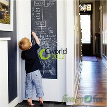 45x200cm Child Kid Vinyl Toy Chalkboard Sticker Decal Gift Home Office Classroom Blackboard Wall Sheet with 5 Free Chalks(China (Mainland))
