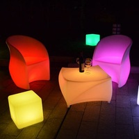 2014 hot sale 30cm cube led chair  for holiday decoration