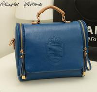 new 2014 autumn fashion preppy style stamp one shoulder bags women leather handbags women messenger bags women handbag
