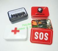 Personal Survival Kit SOS Equipment For Camping Hiking Emergency Box Survival Box Aid Kit