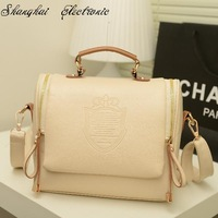 2014 women leather handbags women messenger bags women handbag   fashion preppy style stamp one shoulder bags
