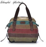 Canvas  portable fashion handbags 2014 new Korean women shoulder  Messenger bag big bag hit the color