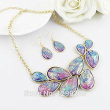 Min Oder $5  Colorful Rhinestone Romantic Vivid Drop Jewelry Set For Women Whole Sale(China (Mainland))
