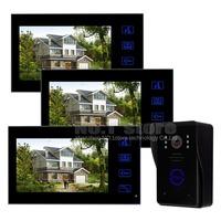 7 inch Color Monitor Door Phone Doorbell Intercom 1 Camera 3 Monitors Home Security Intercom System Kit SY806MJ13
