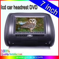 China hot sale 7 inch car headrest DVD monitor with USB SD MP5 MP4 car headrest