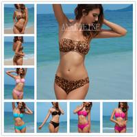 2014 Bikinis Swimsuit 5 Colors Women Swimwear Crosses Bathing Suit For Ladies Padded Removable Pad Bikini Set With Straps 2447