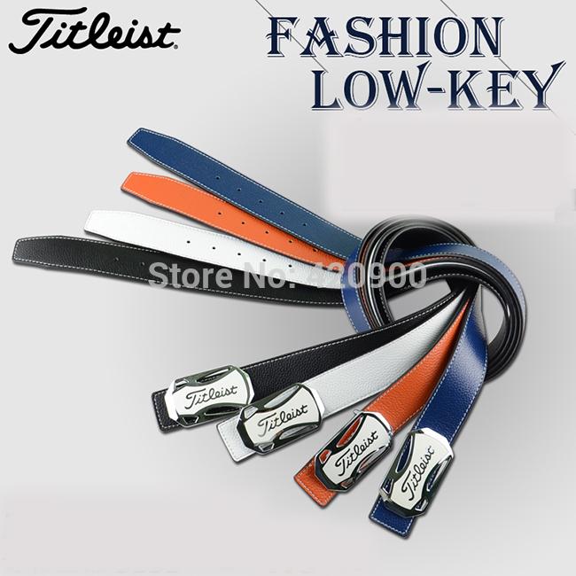 Japan Golf Genuine Leather Logo Buckle Belt, Men's Cowhide Belt(China (Mainland))