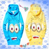 1pcs New 2014 despicable me 2 minion boys t shirt girls nova t-shirts kids children t shirts child Spring hoodies Tops & Tees