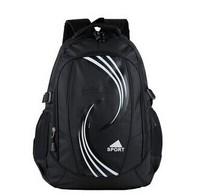 Free shipping shoulder bag Korean men and women black nylon backpack school bag leisure bag sport bag