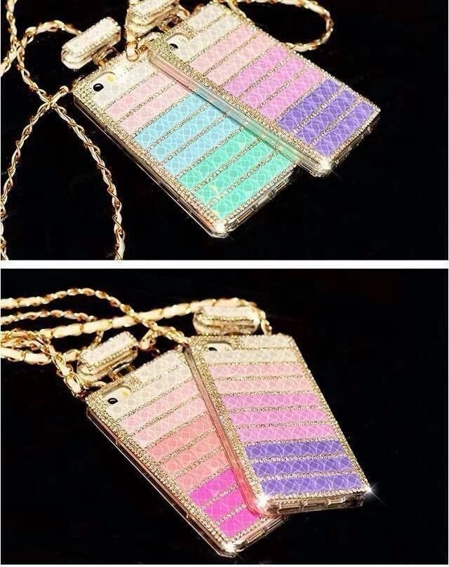 For Samsung Galaxy Note 2 Case Diamond Perfume Bottle Rainbow Lady Girl Cute Necklace n7100 n7105 Cover New Hot Sale Wholesale(China (Mainland))