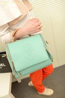 new 2014 women messenger bags autumn fashion preppy style stamp one shoulder bags women leather handbags  women handbag totes