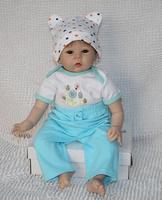 "Reborn baby doll soft silicone vinyl 22"" newborn baby doll handmade realistic children doll"