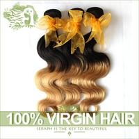 "Hot Ombre Hair Extension 6A Cheap Malaysian Virgin Hair Body Wave Two Tone 3Pcs Lot Mixed 16""-26"" Human Hair Malaysian Body Wave"