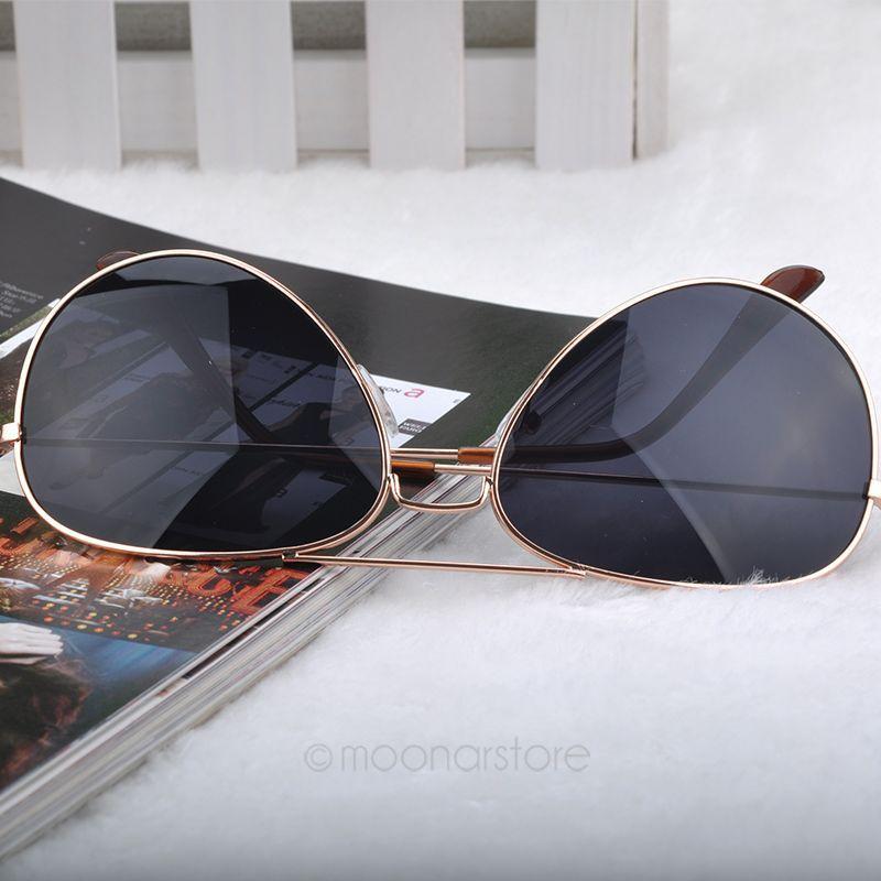 UV Protection Fashion Popular Cool Sunglasses Versatile for use Goggle AVIATOR Metal Eyewear Bat Mirror J*25CMHM041#M6(China (Mainland))