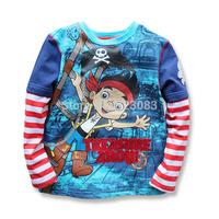 2014 new autumn brand boys clothes Corsair boys long sleeve shirts nova boys t shirt/ infantil roupas meninos Age 2-3-4 years