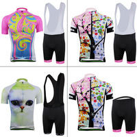 New 2014 aogda women cycling jersey/ cycling wear cycling clothing Bib shorts Summer Breathable quick dry S-3XL