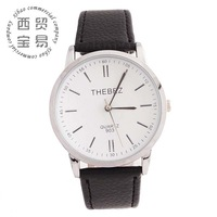 Hot wholesale new 2014 delicate women's business Quartz waterproof stainless steel leather strap wrist watch TBS903