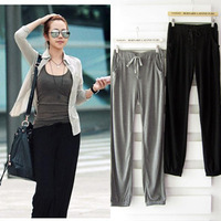 2014 Free Shipping Modal wide leg pants women trousers summer casual yoga pants thin elastic waist female fitness clothes sports
