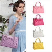 Hot New 2014 Fashion Desigual Brand Women Handbag Stripe Bow Genuine Leather Shoulder Bags Women Messenger Bags Bolsas 6 Colors