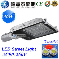 wholesale 10pcs/lot  36W street light LED Lamp Outdoor Lighting Streetlight 180 degree steering arm led street light