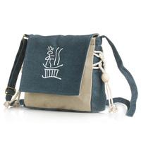 Bag bolsas femininas 2014 , Chinese Style National Wind Fashion Casual Canvas College Woman Messenger Handbag