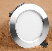 Configuration upgrade Silver Led downlight 3w 5w anti-vapor ceiling lamp Recessed Down Light  AC220V 110V