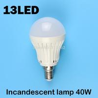 E14 13LEDS SMD 5730 (Incandescent lamp 40W)  220V - 240V Warm white cold white led lamp