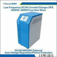 CE RoHS 24v/48v/96v 3000w solar inverter, hybrid inverter 3000w, grid tie charger 15A,LCD LED,AVR UPS peak power 6000W 6KW