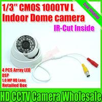 Top Quality ! Megapixel HD Cmos 1000TVL Indoor Video Surveillance Camera Night Vision IR CCTV Security Camera